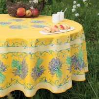 Round table cloth Printed Bouquet de lavande