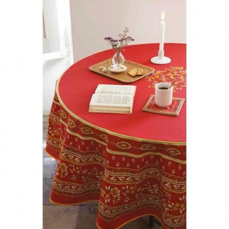 Provence Tablecloth Round Avignon, Marat Du0027Avignon Red