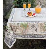 Coffee table cloth, square, Jacquard Riviera