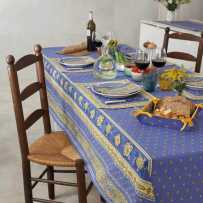 Dining room table cloth, rectangular, Bastide by Marat
