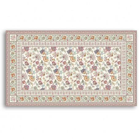 Rectangular tablecloth woven Jacquard Garance, Marat d'Avignon yellow