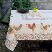 Rectangular tablecloth Jacquard woven Chanteclair