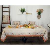 Rectangular tablecloth Jacquard woven Aubrac