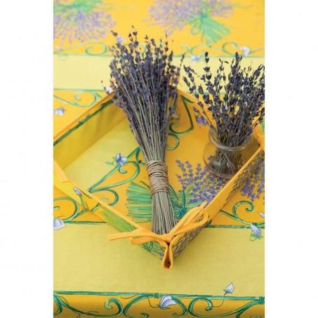Rectangular stain resistant tablecloth, Bouquet de lavande