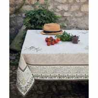 Tapis de table carrée Auriol mis en scène