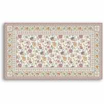 Tapis de table rectangulaire Garance bleu