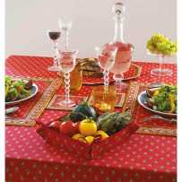 Dining table cloth, Avignon allover by Marat d'Avignon red