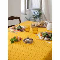 Colorful tablecloths, cotton printed Calissons in scene yellow 2
