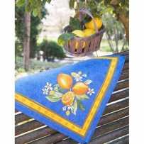 Cloth napkins Citron printed cotton