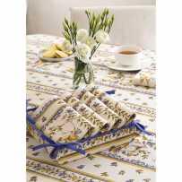 Corbeille à pain Moustiers en tissu imprimé provençal