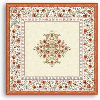 Table mat Jacquard woven Aubrac orange