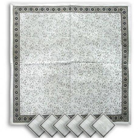 Cloth dinner napkins Cashmir print, Marat d'Avignon black