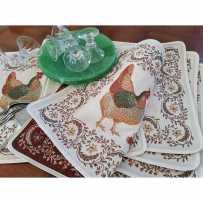 Sets de table rectangulaire, tissé Jacquard Chanteclair 1