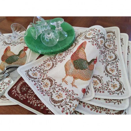 Placemat Jacquard woven Chanteclair in scene 1