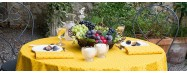 Nappes provençales enduites made in France pour tables rondes