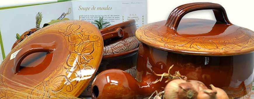 Nos récipients en terre cuite dont la daubière sont faits à Vallauris!