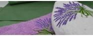 Lots d'essuie main rond eponge et torchons nid d'abeille de Provence