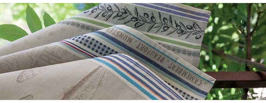 French know-how for kitchen linens such as dish towels, hand towels...