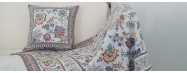 Authentic home linen such as tablecloths for decoration and sofa items