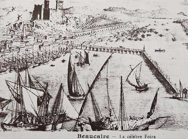 Engraving of the famous Beaucaire fair