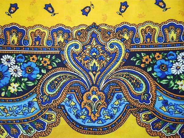 tissu en coton - indiennes - motif floral