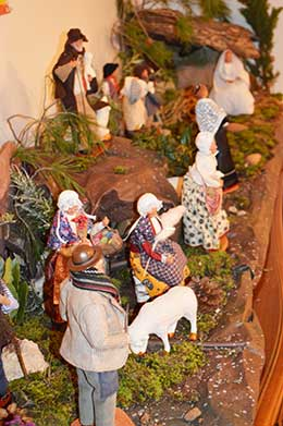 Christmas manger and figurines