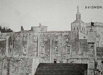 Avignon ancient: the palace of the Popes