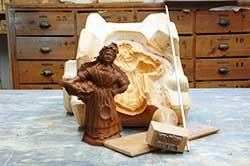 moulage du santon