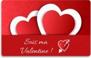 Carte cadeau Saint Valentin